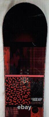 12-13 Ride Compact Used Women's Demo Snowboard Size 143cm #244400