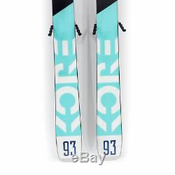 153 Head Kore 93W 2019/2020 Women's All Mountain Skis with Tyrolia Bindings USED