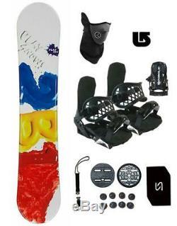 154cm Play 2b1 Snowboard +Bindings Package Men Women Stomp+Leash+Mask+ Burton 3d