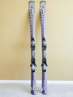158cm ATOMIC e. 3 E3 All Mountain Women's Skis with Device 310 Adjustable Bindings