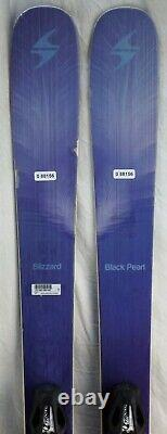 16-17 Blizzard Black Pearl Used Women's Demo Skis withBindings Size 159cm #088156