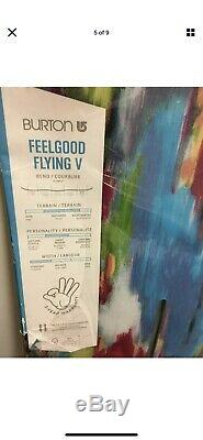 2016 Burton Feelgood Flying V Camber/Rocker 144 cm Womens All Mountain Snowboard