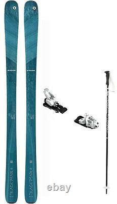 2021 Blizzard Black Pearl 82 ladies snow skis 152 w-Bind (inc POLES at BuyItNow)