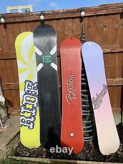4 x SNOWBOARDS Burton Feelgood Clash Ride Theory Burton Custom X