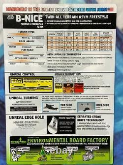 $430 Gnu B-Nice Asym BTX Mineral Snowboard 142 cm Womens'18 Twin 17SN018 White
