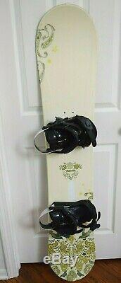 5150 Velour Snowboard Size 153 CM With Large Women Bindings