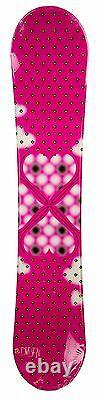 $600 Womens Division Bubbles Snowboard + Bindings Size 140CM Camber Ladies Ride