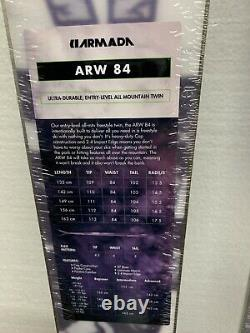 #79 Armada Arw 84 All Mountain Freeride Snow Skis 136cm Twin Tip Womens