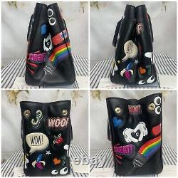 Anya Hindmarch Black Leather All Over Stickers Ebury Tote Bag Mint Rare $3500