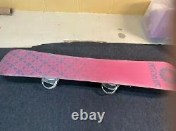 Atomic Tika 149 snowboard & Roxy bindings with woman's Salomon 8 snowboard boots