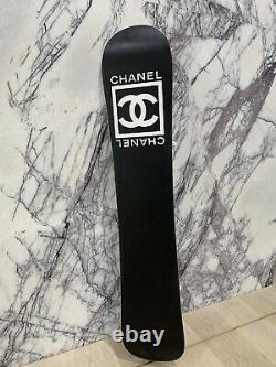 Authentic Chanel Snowboard With Bindings White & Brown 148cm RRP $9500