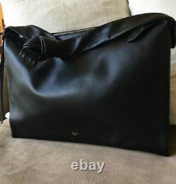 Authentic Mint Celine All Soft Black Calf Leather Shoulder Crossbody Bag