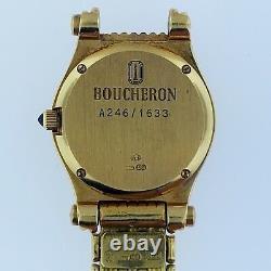 BOUCHERON Reflect18K Solid Gold+DiamondBracelet WatchMint ConditionAll Swiss