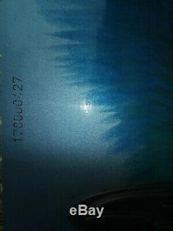BURTON SNOWBOARD fusion 65 LONG used blue green sparkle with Shimano bindings