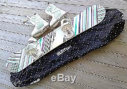 Burton FEATHER snowboard womens 144 cm Snow board Burton Bindings, Boots, Bag
