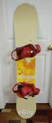 Burton Feather Snowboard Size 147 CM With Burton Medium Bindings