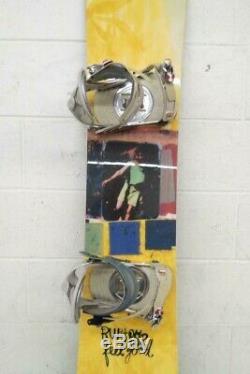 Burton Feelgood 152cm Twin-Tip All-Mountain Snowboard RIDE Preston Bindings LOOK