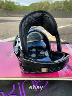Burton Feelgood Vintage Shannon Dunn 144 Womens Snowboard Set, Stiletto Bindings