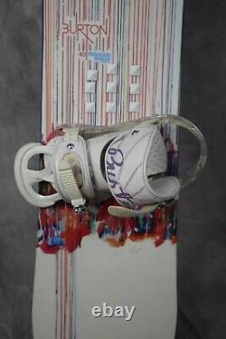 Burton Feelgood Women Snowboard Size 140 CM With Medium Burton Bindings