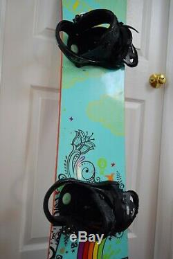 Burton Gtwin Snowboard Size 153 CM With Burton Large Bindings