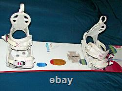 Burton LUX women's all mtn freestyle snowboard 150cm with K2 Cinch Tryst bindings