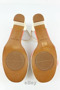 Chie Mihara Court Shoes all Leather White and Coral T 39 /UK 5,5 Mint