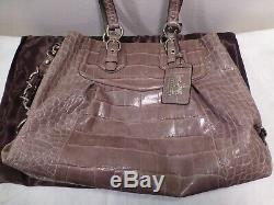 Coach Madison Embossed Croc Carry-All 14601 withSleeper Mint Condition