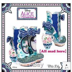 Disney Irregular Choice Alice ALL MAD HERE Boots 37 US 6.5 UK 4 Near Mint IC043