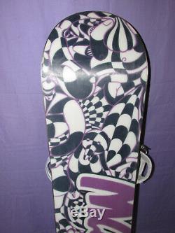 FLOW Elation women's snowboard 147cm all mountain ride with Burton Lexa bindings