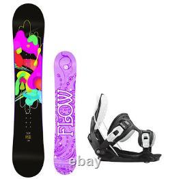 FLOW Pixi 140 Women's Snowboard+Flow Alpha Bindings NEW