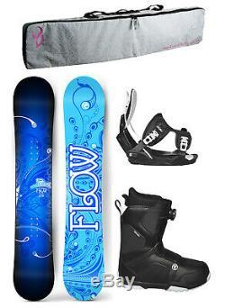 FLOW STAR 140cm Women's Snowboard+Flow Bindings+Flow BOA LTD Boots+BAG NEW