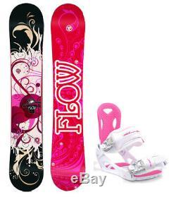 FLOW Tula 140cm Women's Snowboard+M3 Women's Bindings NEW 4 YR WARRANTY
