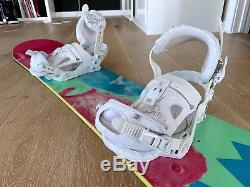 Forum women's Aura snowboard and bindings- size 152 Barely used