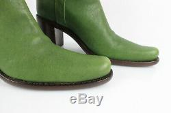 Free Lance Boots all Leather Green and Rhinestones T 37 Mint