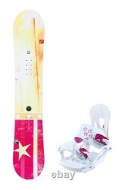 HEAD Pride 152cm Women's Snowboard with Matching Bindings NEW