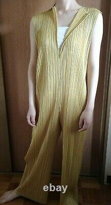 Issey Miyake Me Pleats Please All In One Jump Suite Mustard Mint