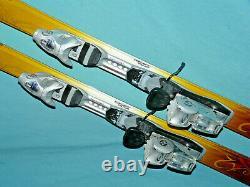 K2 Burnin' Luv TNine T9 Women's Skis 153cm Flat, with LOOK TX7.5 Bindings, Risers