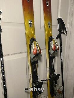 K2 Burnin' Luv Women's Skis 160cm with Marker 11.0 MOD ski bindings & Scott Poles