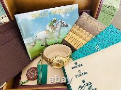 Ladies Mint Rolex Datejust President All 18K Gold Ref 69178 26mm Box Manuals