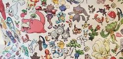 Loungefly Pokemon 151 All Over Print Tote bag Purse Eevee Pikachu Magikarp MINT