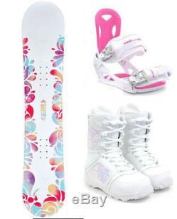M3 Krystal 151 Womens Snowboard + M3 Bindings+ M3 Venus Boots NEW