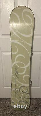 M3 Millennium Three Snowboard Womens 140cm with Bindings included Preowned