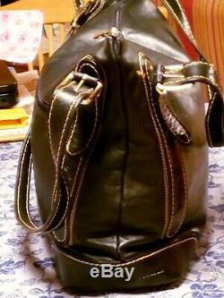 MINT Marino Orlandi Women's Italian Leather Stamped Purse/Carry All/Shoulder BAG