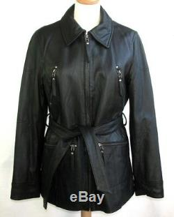 Mac Douglas Jacket Parka all Leather Lamb Full Flower Black 38 Mint