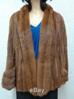 Mint Chinese Mink Fur Cape Stole Jacket Women Woman Size One Size Fits All