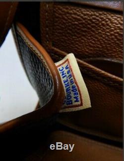 Mint Dooney Bourke Black/Tan All-Weather Shoulder Bag Crossbody Made In USA