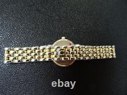 Mint Women Omega Deville 18k Gold Bezel/ss Quartz 100% All Original