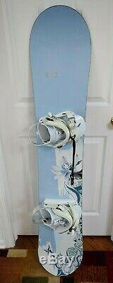 Morrow Lotus Snowboard Size 149 CM With Morrow Medium Bindings