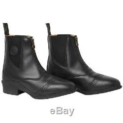 Mountain Horse Aurora Front Zip Womens Boots Paddock Black All Sizes