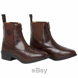 Mountain Horse Aurora Front Zip Womens Boots Paddock Brown All Sizes